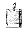 candle in glass vector image