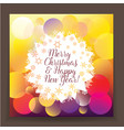 bright poster new year and christma vector image