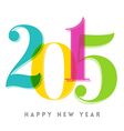 2015 Happy New Year number vector image vector image