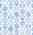 Abstract circles doodle pattern vector image vector image