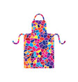 apron simple sign stained glass icon on vector image vector image