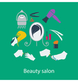 Beauty salon flat design vector image vector image