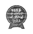 Beer is always a good idea vector image vector image