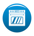 big gas oven icon blue vector image vector image