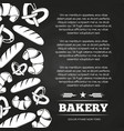 blackboard poster with bread and croissant vector image