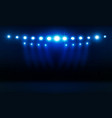 bright stadium arena lights design illumination vector image vector image