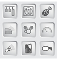 Car part and service icons set 6 vector image vector image