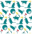 Cartoon Monster Dogs Seamless Pattern vector image