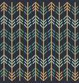 chevron woodland fun seamless pattern vector image vector image