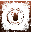 coffee time template vector image vector image