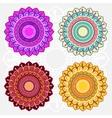 Colored mandala set vector image vector image