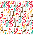 colorful background with pattern of musical notes vector image