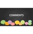 comments with blackboard and colourfull comment vector image