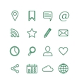 Contour social media icons set vector image vector image