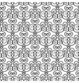 Elegant black and white hand-drawn pattern vector image