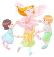 Fairy dancing with children vector image vector image