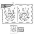 find 9 differences game hand imagination vector image vector image
