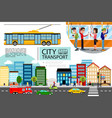 flat city transport concept vector image vector image