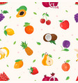 fresh fruit - modern colorful seamless pattern vector image