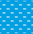 garbage truck pattern seamless blue vector image vector image