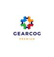 gear cog cogs logo icon colorful vector image