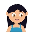 girl smile kid vector image vector image