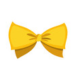 gold bow cartoon yellow luxury design vector image vector image