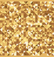 golden abstract triangle luxury background for vip vector image
