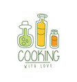 hand drawn cooking logo original design with soup vector image vector image