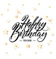 happy birthday greeting or invitation card hand vector image vector image