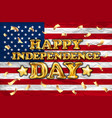 happy independence day gold balloon greeting card vector image