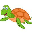 happy turtle cartoon vector image vector image