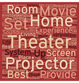 home theater projector text background wordcloud vector image vector image