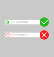 http https secure and not secure connection vector image vector image