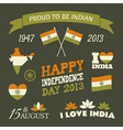 India Independence Day Celebration Icons Set vector image