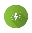 lightning bolt flat design long shadow glyph icon vector image vector image