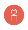 Man thin line icon vector image vector image