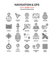 map and navigation gps coordinates location vector image