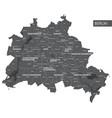 map berlin district vector image