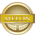 melon gold label vector image vector image