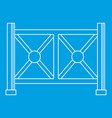 metal fence icon outline style vector image