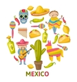 Mexican Round Composition vector image vector image