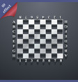 Modern Chess board icon symbol 3D style Trendy vector image vector image
