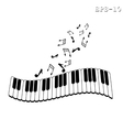 Musical keyboard and note vector image vector image