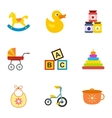 Newborn icons set flat style vector image vector image