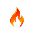 orange flame icon vector image