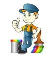 painter with tool vector image