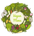 pattern with vegetables and herbs vector image vector image