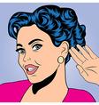 pop art retro woman in comics style vector image