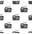 radio seamless pattern vector image vector image
